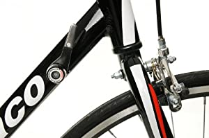 AMMACO XRS600 ALLOY MENS RACING ROAD BIKE 55cm FRAME 14 SPEED BLACKWHITE (PICTURE SHOWS SMALLER FRAME SIZE)