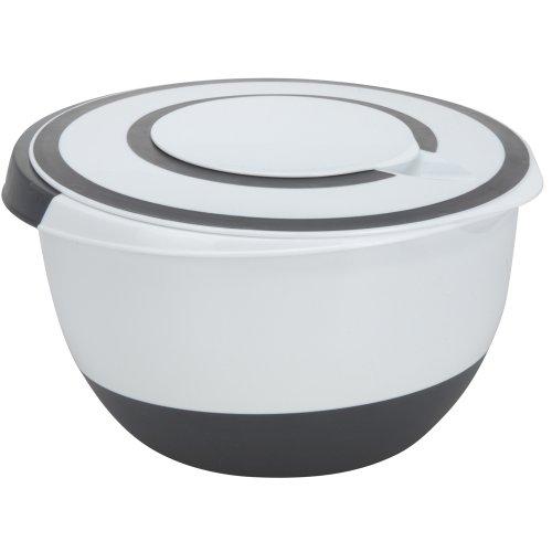 BBTrade Sales Rührschüssel 5 Liter Deckel Rühröffnung Stoppboden Schüssel 5L Frischhaltedose