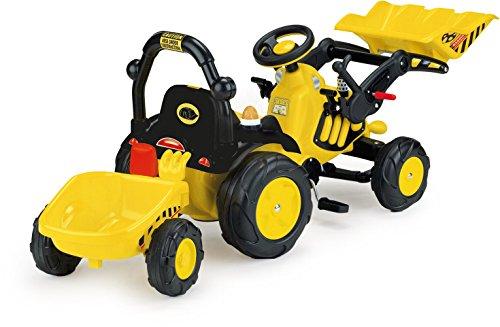 INJUSA Tractor Toony con remolque, pedales, accesorios, sonidos y luces (410)