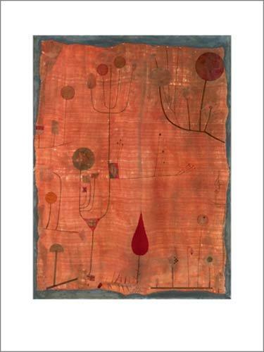 kunstdruck-poster-paul-klee-fruchte-auf-rot-1930-60-x-80cm-premiumqualitat-expressionismus-pflanzen-