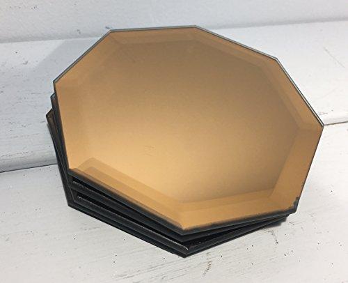 Kupfer Untersetzer-verspiegelt Glas Untersetzer-Set von 4(9cm) -