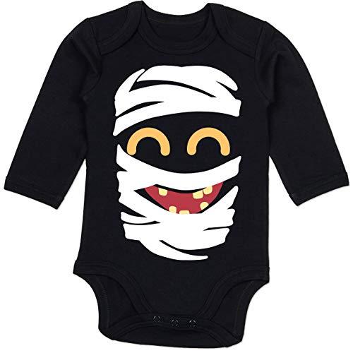 Shirtracer Karneval und Fasching Baby - Mumie Karneval Kostüm - 3-6 Monate - Schwarz - BZ30 - Baby Body Langarm