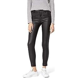 FIND Pantalones Efecto Cuero para Mujer , Negro (Black), 40 (Talla del fabricante: Medium)