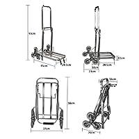 GLJJQMY Luggage Cart Trolley Cart Trolley Cart Stainless Steel Folding Bike Van6 Wheel Climbing Shopping Cart trolley