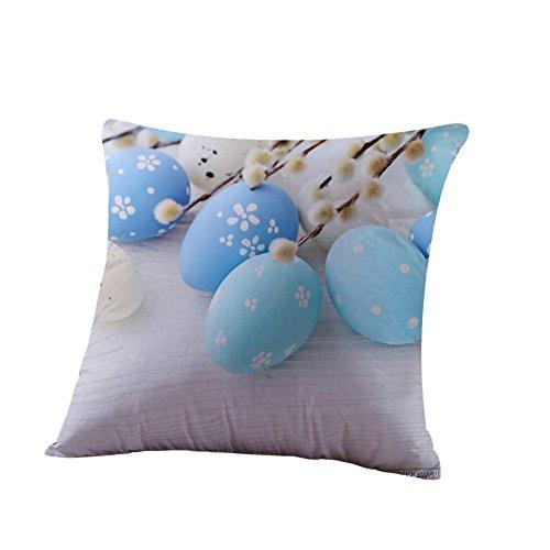 2019 nuovo elegante cuscino di pasqua custodie cotone lino divano divano letto 45cm×45cm/18×18 pollice federa home decor cuscino di alta qualità by wudube