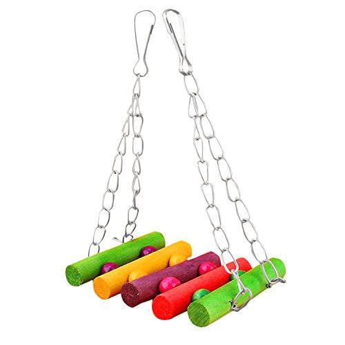 Flexible bunte Käfig Hängematte Schaukel Spielzeug Spielzeug für Haustier Vogel Papagei Sittich Hamster Sittich Wellensittich Nymphensittich hängend
