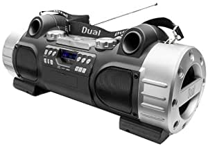 Dual P 104 Boombox (PLL/UKW-Radio, CD/MP3-Player, SD-Karte, AUX-IN, Equalizer, 2x 10 Watt, USB) silber