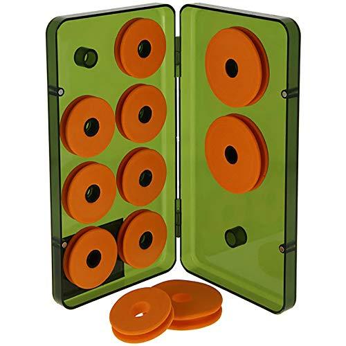 g8ds Vorfach-Aufwickler-Box Angeln - 11 Schaumstoff Schnuraufwickler für Vorfächer & Rigs in Depot-Case