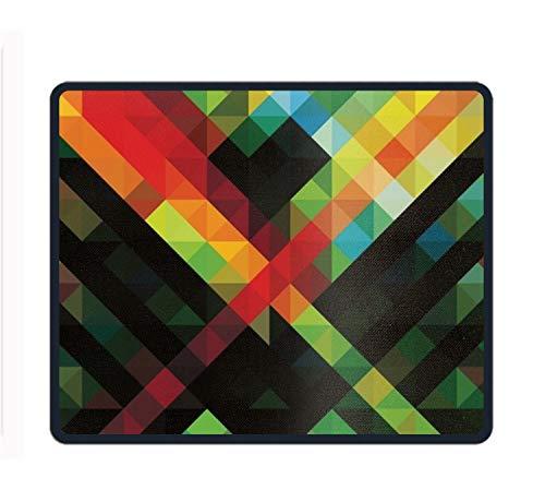 Mauspad, Motiv Blätter auf Dunklem Muster, Rutschfeste Gummi-Blätter auf Dunklem Hintergrund, Geometric Wallpaper HD 20, Einheitsgröße