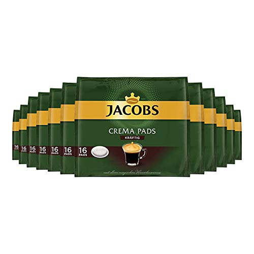 Jacobs Krönung Crema Kaffeepads 'kräftig', (12x 105 g, 192 Portionen)