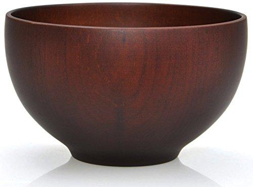 Tradicional japonés arroz cáscara sopa cuenco madera