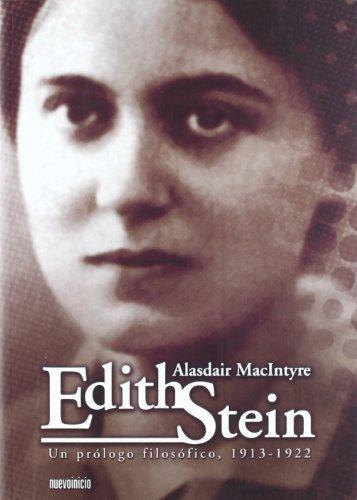 Portada del libro Edith Stein. Un prologo filosófico. 1913 - 1922