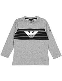 low priced 656dc 1b82c Armani Junior T-Shirt a Maniche lunghe Bambino Kids Boy Mod. 6ZBT55