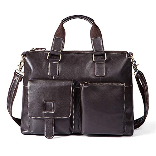 Pinkfishs Herren Leather Travel Gepack Bag Business Laptop Shoulder Messenger Handtasche Briefcase Portfolio - B (Polyester-messenger-portfolio)