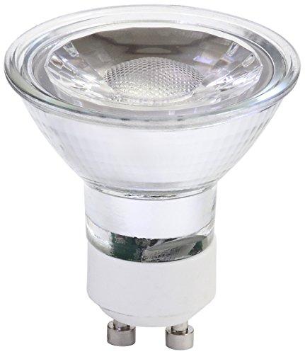 Müller-Licht 400149 A +, rétro lampe réflecteur LED Lot de 2 remplace 45 W, verre, 5.0 W, GU10, argent, 5.3 x 5.1 x 5.1 cm