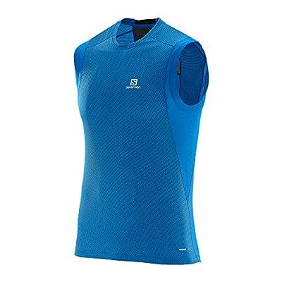 Salomon Trail Runner Sleeveless Tee union blue