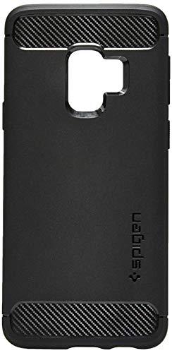 Spigen 592CS22834 Rugged Armor Kompatibel mit Samsung Galaxy S9 Hülle, TPU Silikon Schwarz Schutzhülle Handyhülle Case Matte Black