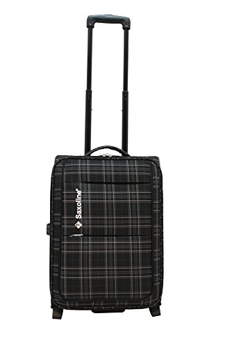 12414A4906A Saxoline NEW CHECKER Trolley Koffer 2 Ro. 55 cm schwarz (Stoff Checker)