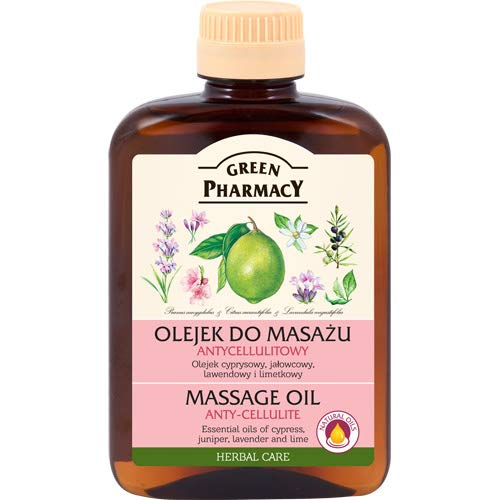 Green Pharmacy- Aceite anticelulitico a base de aceites esenciales de Lavanda enebro y ciprés con base...