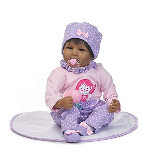 Nlatas Weiche Reborn Baby Dolls Mädchen Realistische 22 Zoll Babys Lebensechte Neugeborenen Puppe Spielzeug Kinder Geburtstagsgeschenk (Baby-puppen, Jungs Neugeborenes)