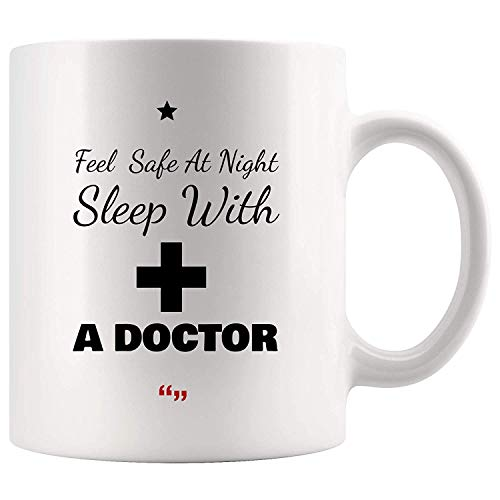b926a2c578d17 Feel Safe Night Sleep With Doctor physician Mug Coffee Cup Funny Gift for  Assistant Co-worker Boss Sarcasm Beer Cup Sarcastic Quotes Tea Mugs Meme ...