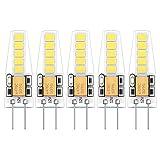 5X G4 LED Lampen 2W LED Birne 10 SMD 2835LEDs Kalweiß 6000K LED Leuchtmittel Energie Sparen 200LM LED Bulb Silikon Material AC/DC12V