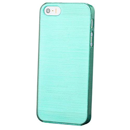 ür Apple iPhone SE / 5S / 5 | Hard Candy Case Mint Grün | [Display Schutzfolie Inklusive] Hülle Cover Schutz ()
