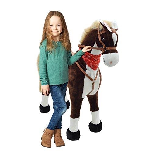 ferd XXL 105cm - Max, riesiges Pferd zum Reiten, EIN tolles Stehpferd XXL, bis 100kg, Spiel-Pferd Reitpferd zum Draufsitzen inkl. Kleiner Bürste - EIN Kindertraum für Mädchen! ()