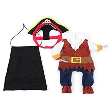 Sefon_Bwomen Lustige Hundehaustierkleidung Karibik-Piraten-Katzen-Kostüm-Klage Corsair verkleiden Sich Party-Kleidungs-Kleidung für Hunde Katze Plus Hut S
