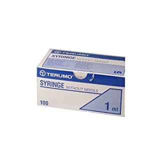 Medline BS-01T Syringe, Terumo Luer Slip, 1 mL (Pack of 100)