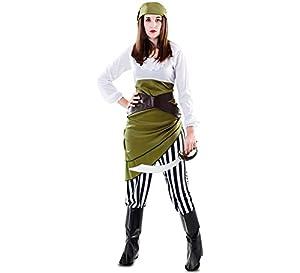 Fyasa 706575-t04disfraz de pirata, color blanco/verde, grande