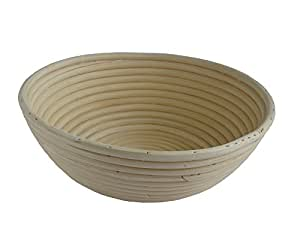 Natural Rattan Coiled Cane Banneton Bread Proving Proofing Basket 22cm Capacity 1 - 1.25 Kg
