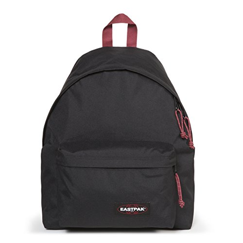 Eastpak Padded Pak'R Sac à  dos, 40 cm, 24 L, Noir (Black-Red)
