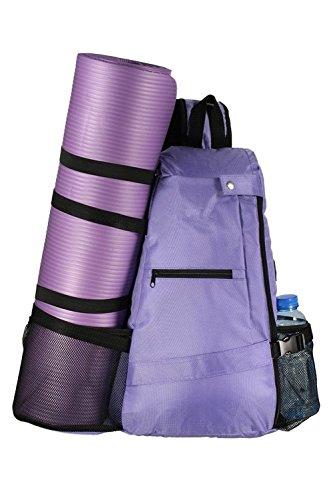 AMAGGIGO Yogatasche Yoga Matte Tasche Rucksack Yogamattentasche für Hot Yoga, Pilates, Fitnessstudio (Violett)