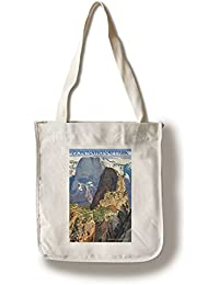 Canvas Tote Bag : Zion National Park - Angels Landing (100% Cotton Tote Bag - Reusable)