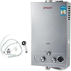 Chaneau Chauffe-eau Gaz LNG Water Heater 16L Chauffe-eau Au Gaz Naturel Liquéfié 16KW Chauffe-eau Instantané Avec LED Ecran (16L LNG)