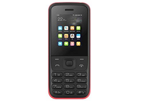 Qubo Hera - Smartphone de 1 77   memoria de 32 MB  c  mara de 0 3 MP  bater  a de 600 mAh  GPRS  negro y rojo
