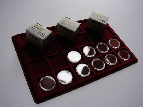 Preisvergleich Produktbild 10 Stk. 33mm Münzkapseln für z.B.10 EURO Deutschland, 10 DM, 20 Mark, 1 oz Krügerrand Gold, 1 oz American Eagle Gold + Platin