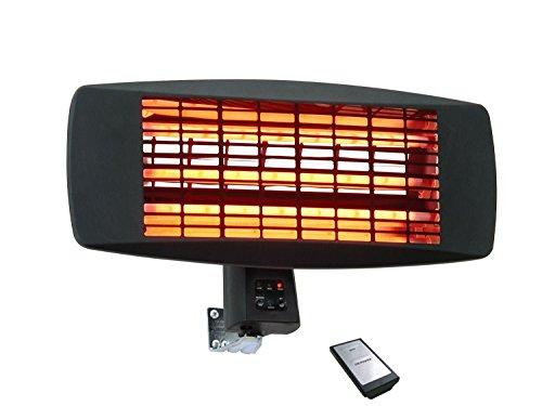Traedgard Lampada riscaldante a Raggi infrarossi Fehmarn 650-2000 Watt incl. Telecomando, 64531