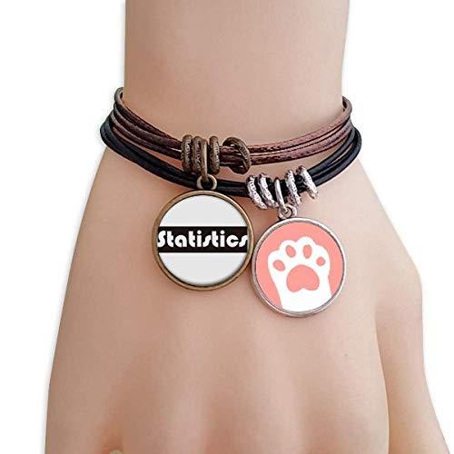 DIYthinker Damen Kurs und die wichtigsten Statistiken Schwarze Katzen-Armband-Leder-Seil-Armband Paar Sets