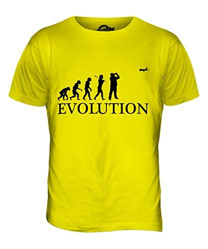 CandyMix Flugzeug Spotter Evolution Des Menschen Herren T Shirt Zitronengelb