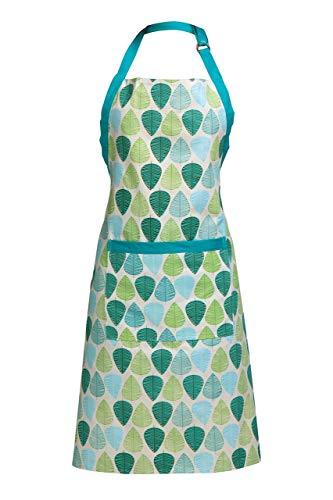 Premier Housewares Grünes Blatt Schürze, 100% Baumwolle -
