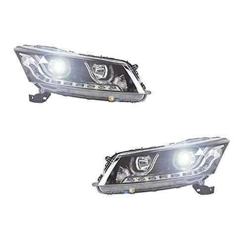 Scheinwerfer-Set für Accord 2008-2012 Bi-Xenon-Linse, Projektor, Doppellicht, Xenon-HID-Kit mit LED-Tagfahrlichtern, 2 Stück