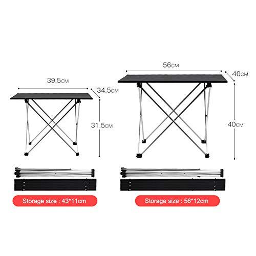 Juuizhe Faltbarer Picknick-Tisch aus Aluminiumlegierung, tragbar, tragbar, langlebiger und stabiler, geeignet für Picknick, Wandern, Reisen, Strand, Grillen etc.