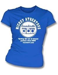 La camiseta del ajustado de la muchacha de la lavandería automática de Mickey Atherton X-