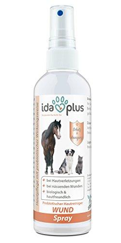 IdaPlus – Wundspray für Tiere: Hunde, Katzen, Pferde, Schafe, Scheweine & Reptilien (200 ml) | Schutzschild bei Hautverletzungen | Probiotisch, pH-neutral und besonders hautfreundlich