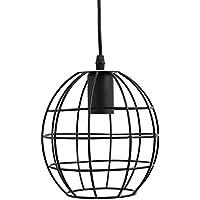 Fuloon Lampada in Stile retro realizzato in ferro battuto. Piccolo lampadario a sospensione, con gabbia che avvolge la lampadina. Perfetto per Salone, Sala da pranzo, camera da letto, Coffee Shop, Bar