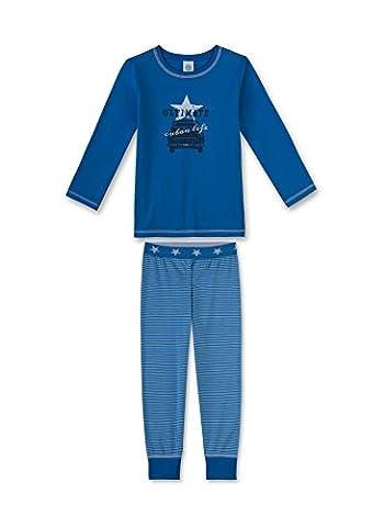 Sanetta Jungen Zweiteiliger Schlafanzug 231943, Gr. 140, Blau (ocean blue 50181)