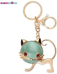 Babies Bloom Green Hello Kitty Rhinestone Keychain Bag Charm