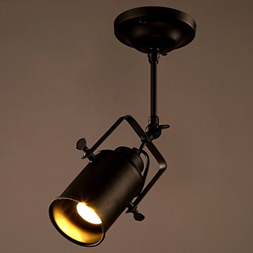 Vintage Style E27 Ceiling Spotlight Fixture Spot Light Industrial Spot Wall  Light Adjustable Metal For KTV Coffee Bar Dining Room Kitchen Black